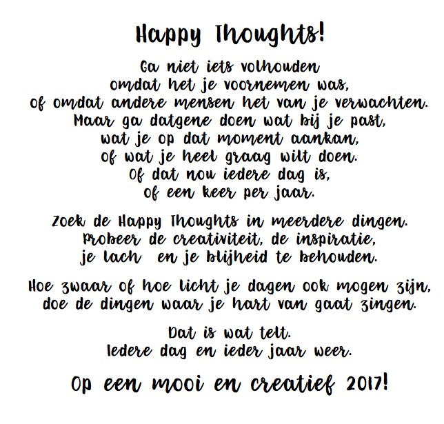 Happy Thoughts gedicht